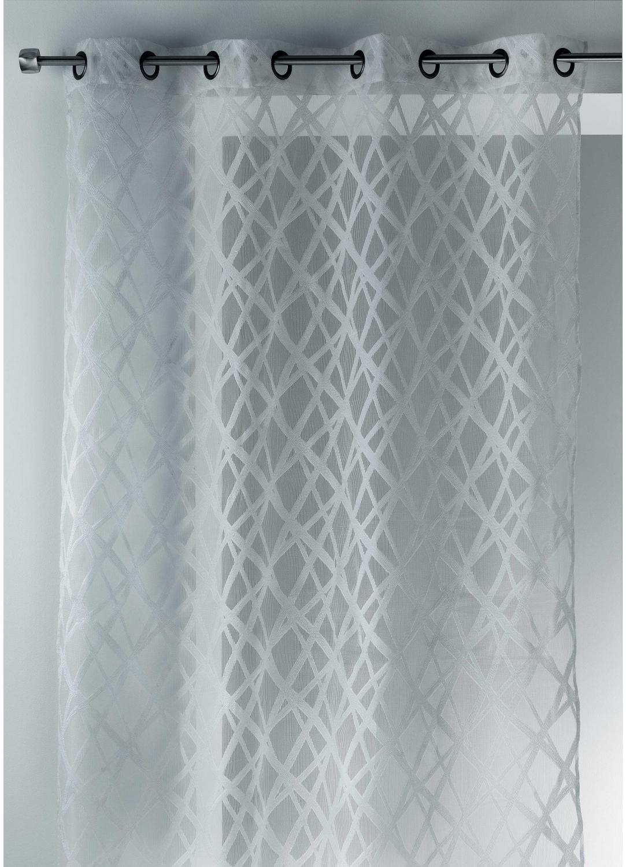 voilage en organza jacquard design blanc noir ivoire gris homemaison vente en. Black Bedroom Furniture Sets. Home Design Ideas