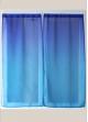 Paire de voilage en étamine imprimée dégradée  Bleu