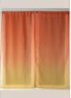 Paire de voilage en étamine imprimée dégradée  Orange