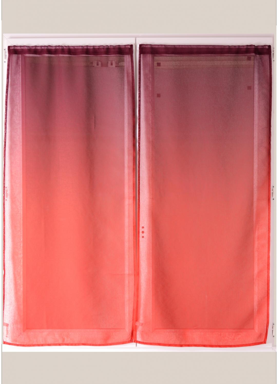 Paire de voilage en étamine imprimée dégradée (Prune)