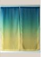 Paire de voilage en étamine imprimée dégradée  Vert
