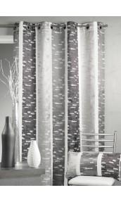Rideau en jacquard design à rayures verticales