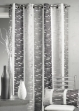 Rideau en jacquard design à rayures verticales  Gris