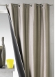 Rideau uni en shantung occultant 3 couches  Taupe