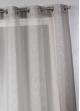 Voilage en étamine à rayures verticales graphiques   Gris