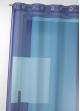 Voilage en étamine imprimée à motifs graphiques  Bleu