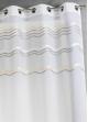 Voilage en jacquard à rayures horizontales ondulées Taupe