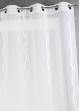 Voilage en jacquard à rayures verticales ondulées  Blanc