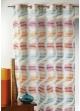 Voilage en jacquard fantaisie à rayures verticales ondulées  Multicolore