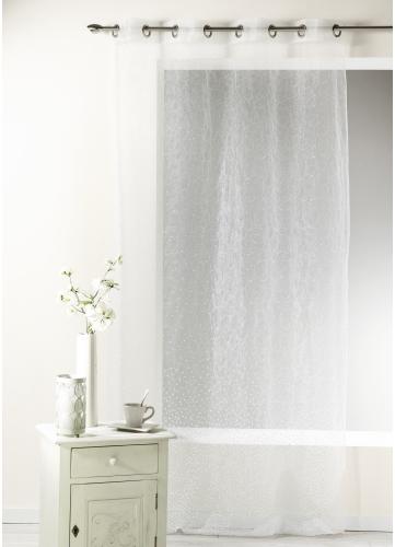 voilage en organza d vor et brod blanc homemaison vente en ligne voilages. Black Bedroom Furniture Sets. Home Design Ideas