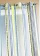 Voilage en organza jacquard à rayures verticales colorées  Pétrole