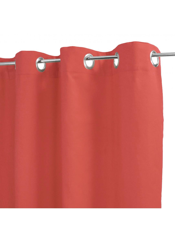 Rideau 100% Coton Uni à Légers Reliefs (Corail)