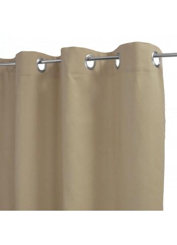 Rideau 100% Coton Uni à Légers Reliefs (Naturel)