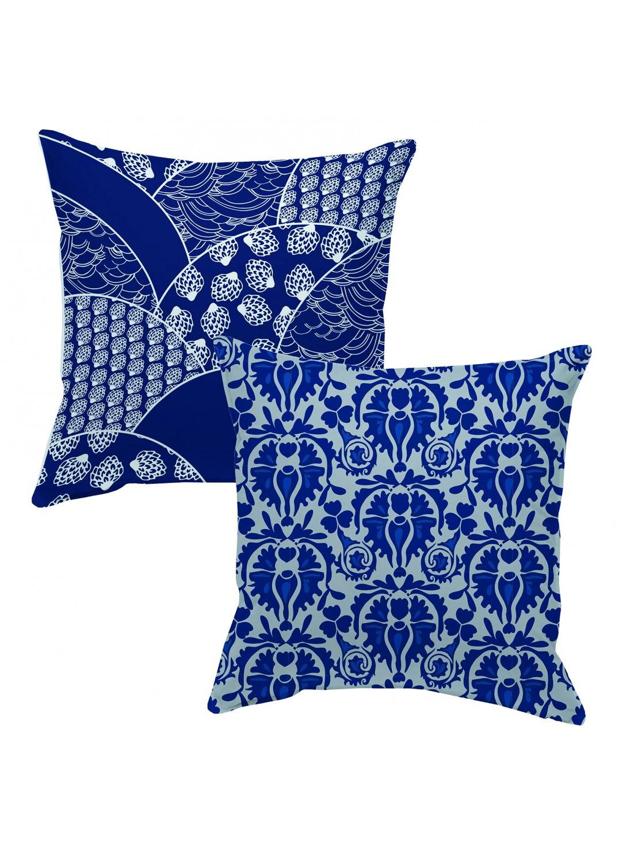 coussin en coton double face inde bleu homemaison vente en ligne coussins standards. Black Bedroom Furniture Sets. Home Design Ideas