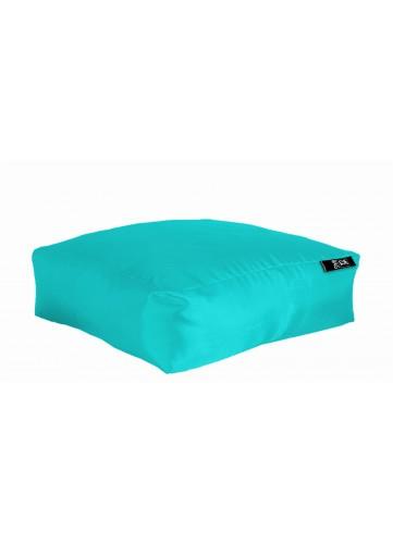 Coussin de sol XXL Outdoor en microbille - Turquoise - 90 x 90 x H 30 cm