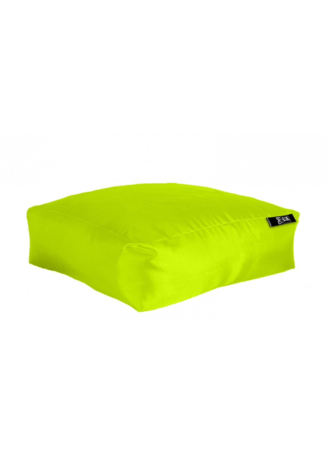 coussin de sol xxl outdoor en microbille vert anis. Black Bedroom Furniture Sets. Home Design Ideas