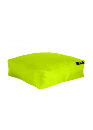 Coussin de sol XXL Outdoor en microbille - Vert Anis - 90 x 90 x H 30 cm
