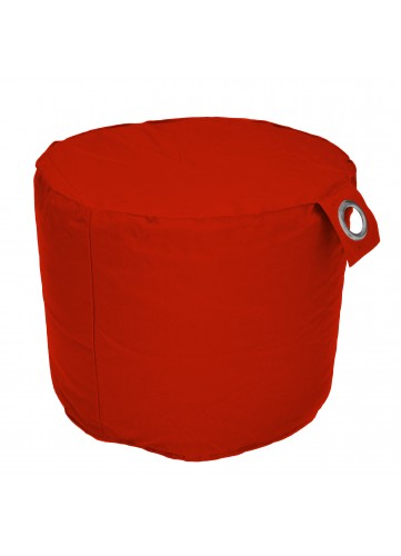 Pouf rond Outdoor microbille  (Rouge)