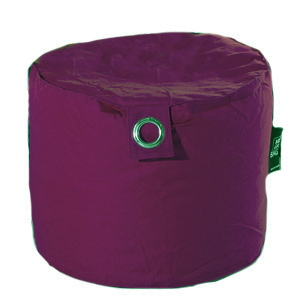 Pouf rond Outdoor microbille Prune (Prune)