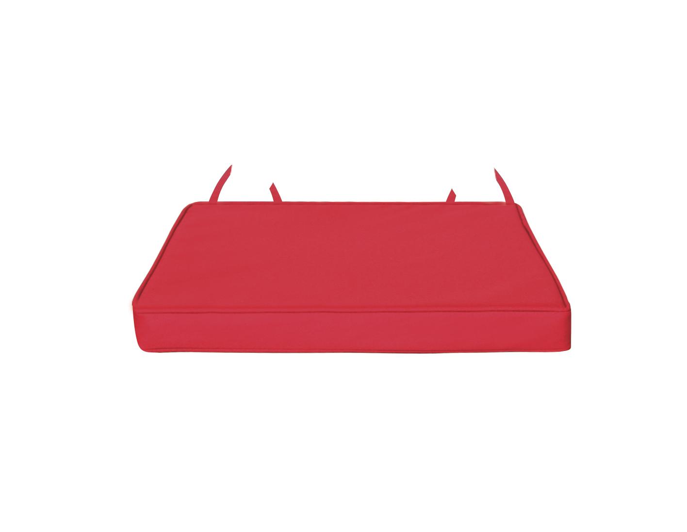 Galette de chaise déhoussable outdoor (Rouge)