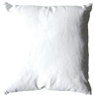 Coussin uni en polyester (Blanc)