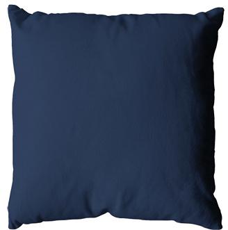 Coussin uni en polyester (Bleu Marine)