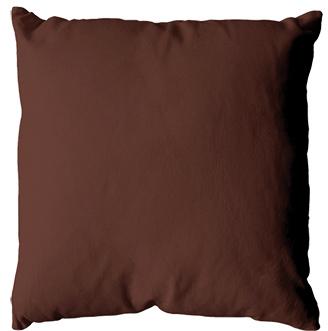 Coussin uni en polyester (Chocolat)