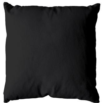 Coussin uni en polyester (Noir)