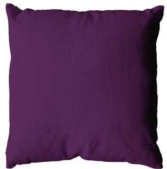 Coussin uni en polyester (Violet)