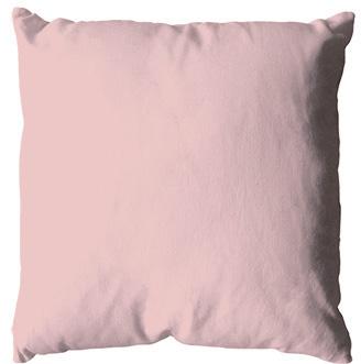Coussin uni en polyester (Vieux rose)