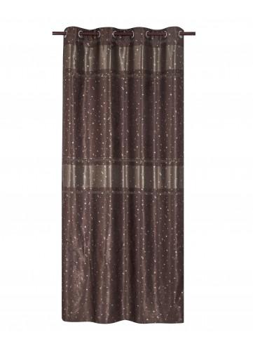 rideau 80 occultant motifs toiles chocolat 140 x 260. Black Bedroom Furniture Sets. Home Design Ideas