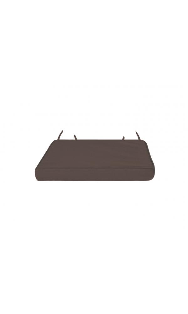 Galette de chaise déhoussable outdoor (Chocolat)