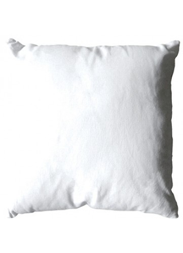 Coussin Uni Polyester - Blanc - 40 x 40 cm