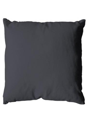 Coussin uni en polyester - Gris Foncé - 40 x 40 cm