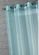 Voilage Organza Rayures Fantaisies  Turquoise