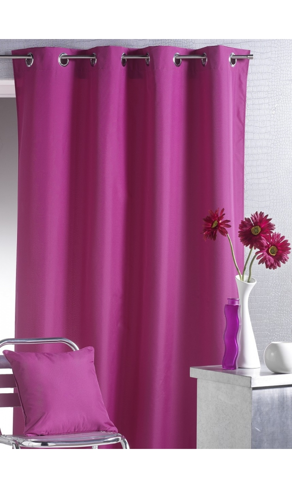 Rideau d'Ameublement Uni Outdoor  (Fuchsia)