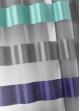 Voilage Bi-Matière Contemporain Bleu