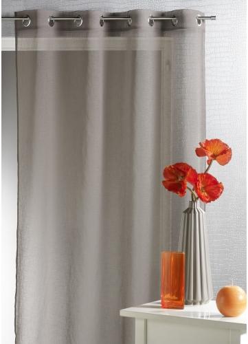 Voilage etamine unie moderne blanc bambou rouge lin gris prune homemaison for Voilage moderne