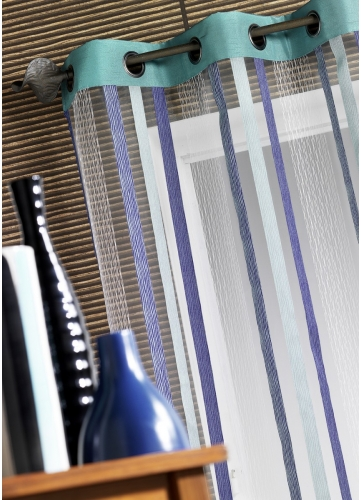 Voilage Organza Inspirations Lointaines (Bleu)