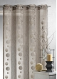 Voilage Organza Ronds et Rayures   Taupe
