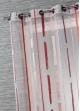 Voilage Tendance Rayures Verticales Corail