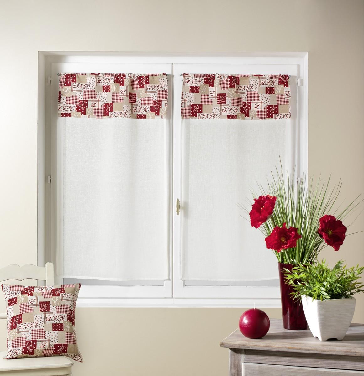 peque os visillos en estame a patchwork topo cortina casa venta en l nea de el par de. Black Bedroom Furniture Sets. Home Design Ideas