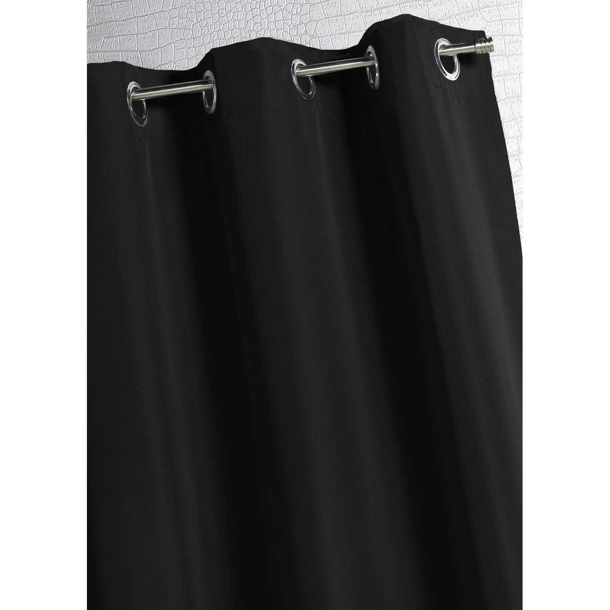 Rideau d'extérieur en tissu outdoor (Noir)