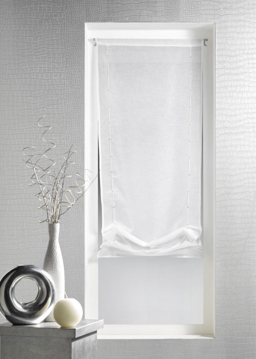 store voilage en etamine unie ivoire bambou rouge. Black Bedroom Furniture Sets. Home Design Ideas