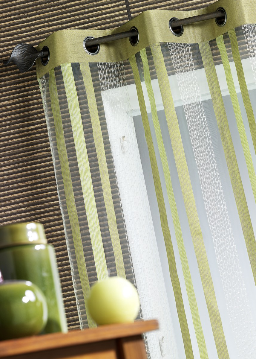 Voilage Organza Inspirations Lointaines (Anis)