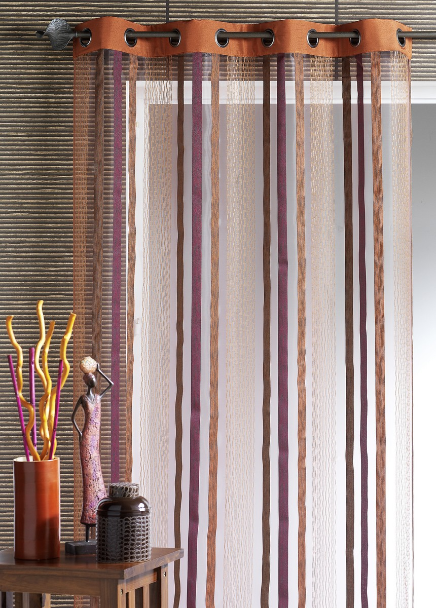 Voilage Organza Inspirations Lointaines (Terracota)