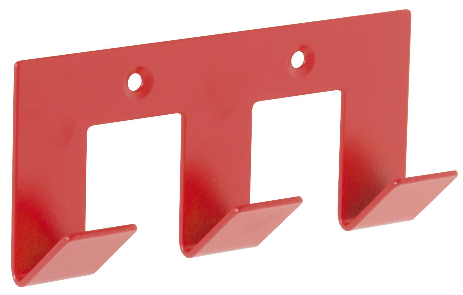 Patère rouge design 3 têtes (Rouge)