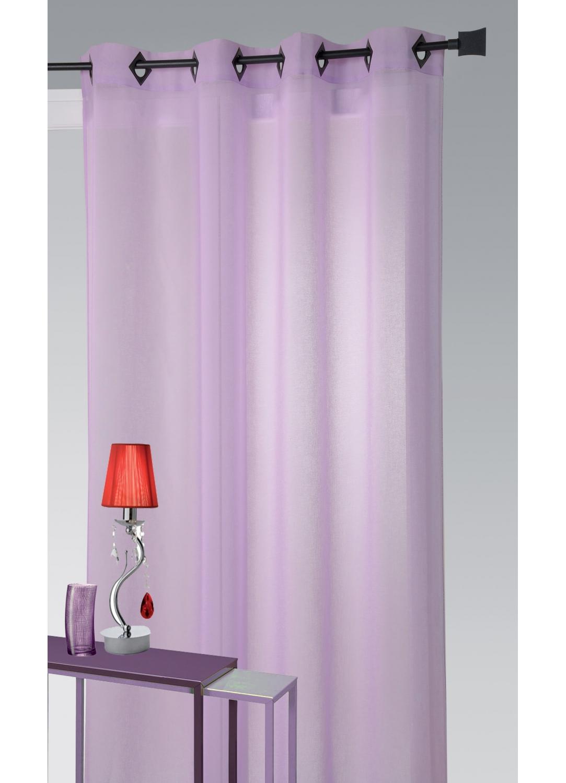 voilage en etamine l g re unie oeillets carr s parme rouge framboise homemaison. Black Bedroom Furniture Sets. Home Design Ideas