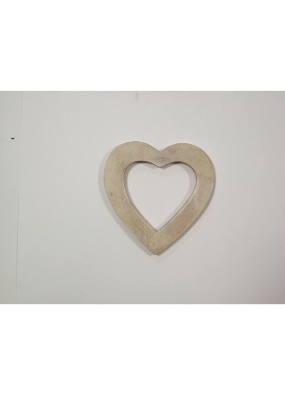 Boucle en Bois Doré en forme de coeur