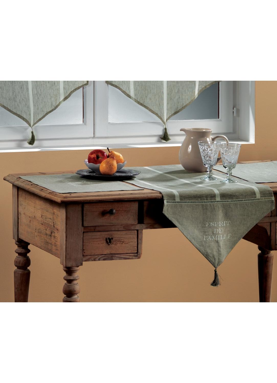2 Sets de table en Etamine Brodée 'esprit de famille' (Lin)